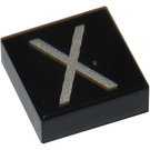 LEGO Tile 1 x 1 with Letter X Decoration with Groove (11587 / 13433)