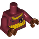 LEGO Minifigure Torso with Sweater with Yellow stripes and Gryffindor Badge (76382 / 88585)