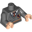 LEGO Gryffindor student torso with grey sweater and red tie (76382 / 88585)