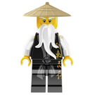 LEGO Sensei Wu - Black Robes with Gold Chinese Lettering Minifigure