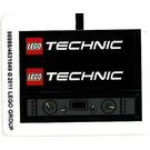 LEGO White Sticker Sheet for Set 8110 (96988)