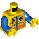 LEGO Minifigure Torso Coast Guard Zippered Jacket with Walkie-Talkie and Logo (76382)