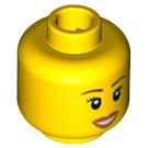 LEGO Plain Head with Decoration (Safety Stud) (12328 / 89165)